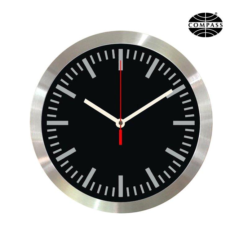 Compass 30cm Aluminium Wall Clock