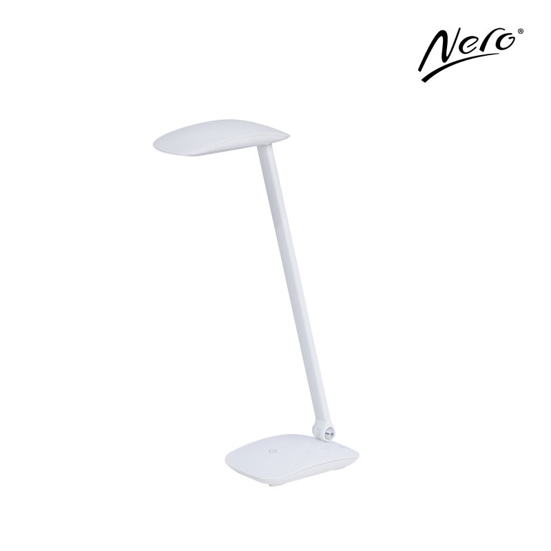 Nero White Desk Lamp with USB Port