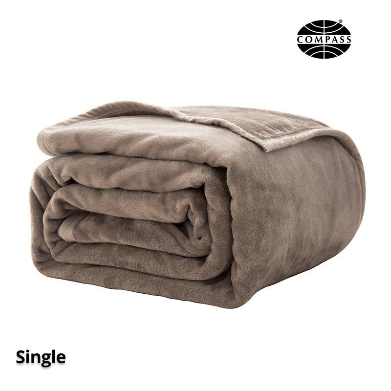 Microfibre Blanket for Single Size Bed Camel