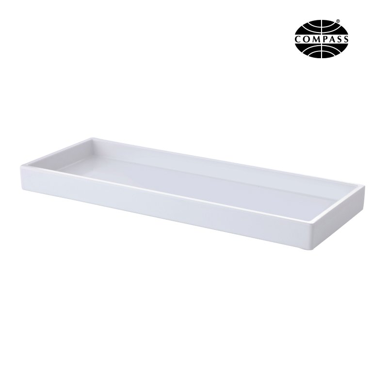 Melamine Rectangular Amenity Tray With Sides White