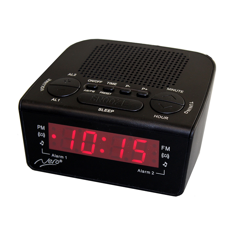 Nero Compact Alarm Clock Radio - Weatherdon