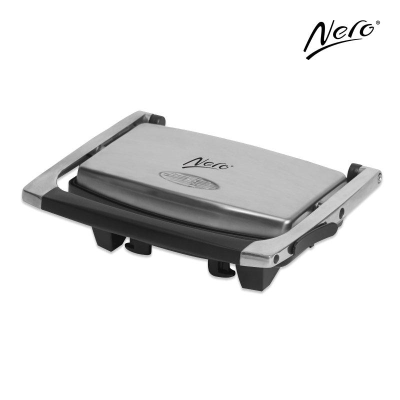 Nero Stainless Steel Sandwich Press 2 Slice