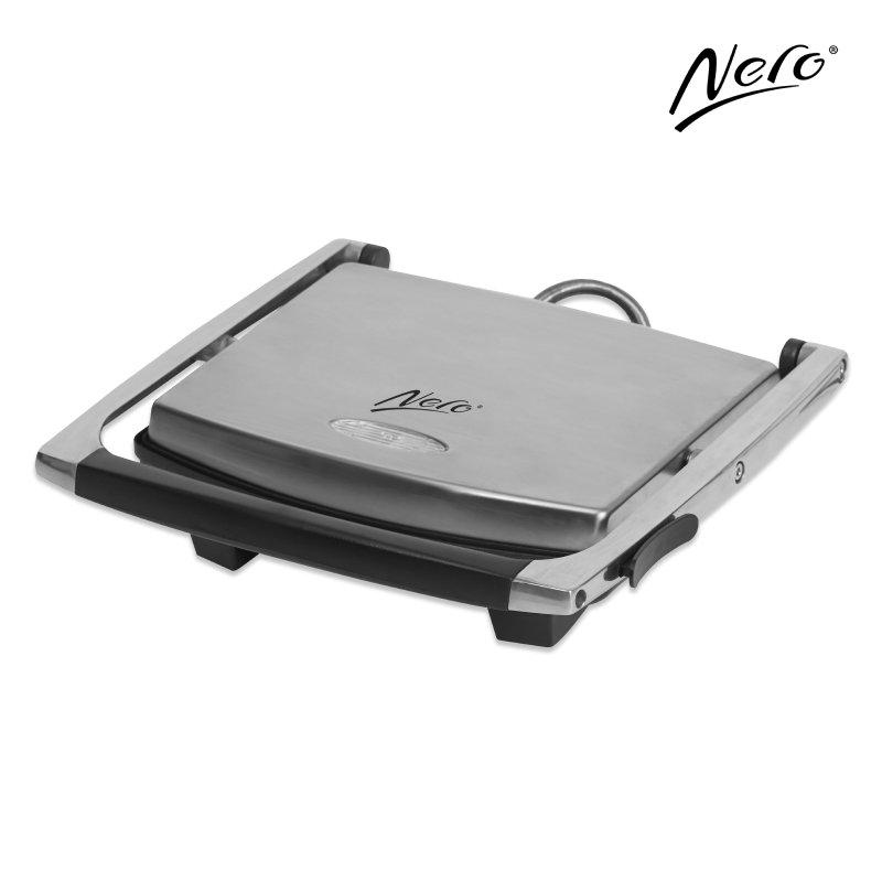 Nero Stainless Steel Sandwich Press 4 Slice
