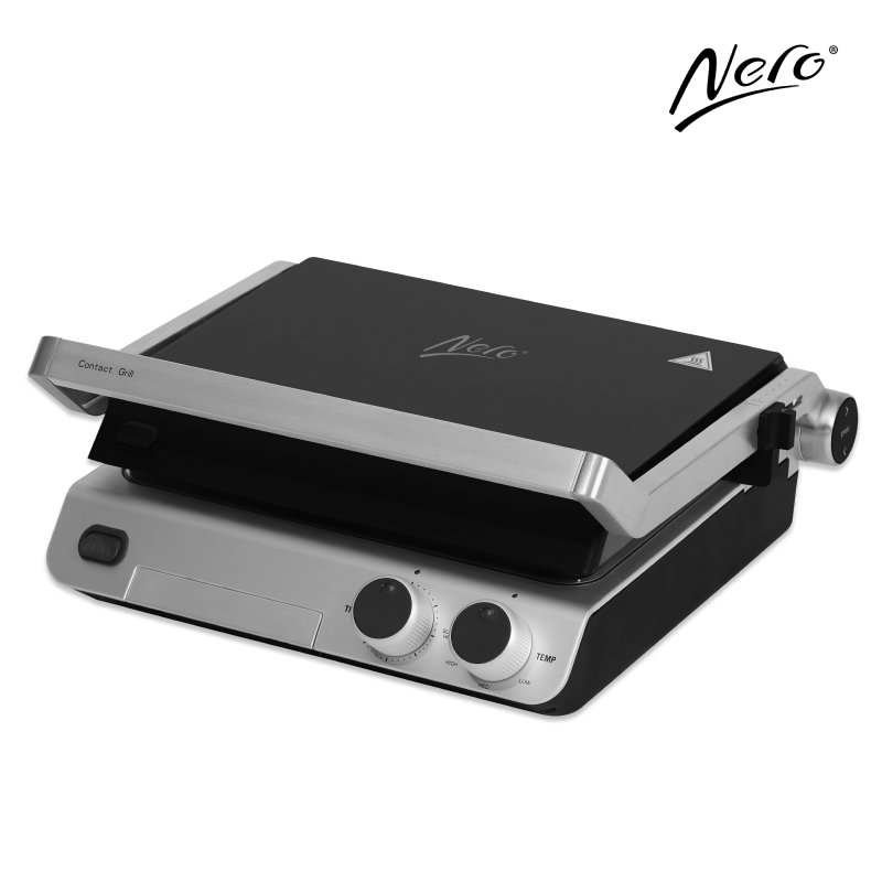 Nero Deluxe Sandwich Press / Contact Grill 4 Slice with Timer