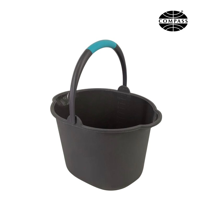 Grey Plastic Bucket 11 L