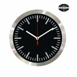 Compass 30cm Aluminium Wall Clock - Click for more info