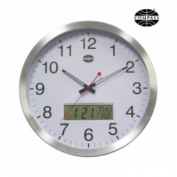 Compass 35cm Aluminium Wall Clock - Click for more info