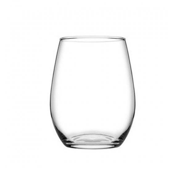 Pasabahce Amber Stemless 350ml Wine Glass