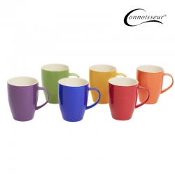 Connoisseur Assorted Coloured Mugs 370ml