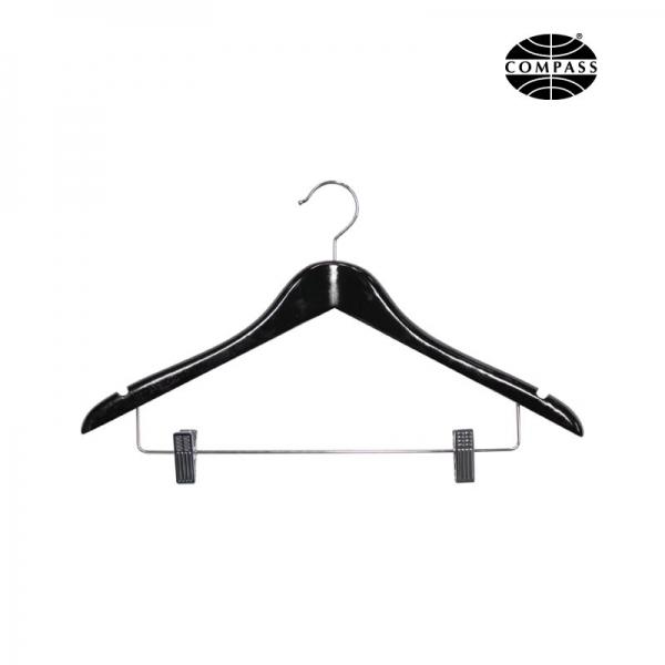 12mm Standard Hook Hanger With Clips Black Wood