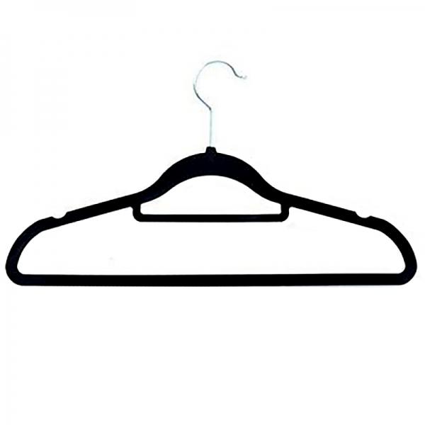 5mm Non-Slip Black Velvet Hanger