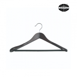 Suit Hanger Black Wood 60mm Shoulder Ends