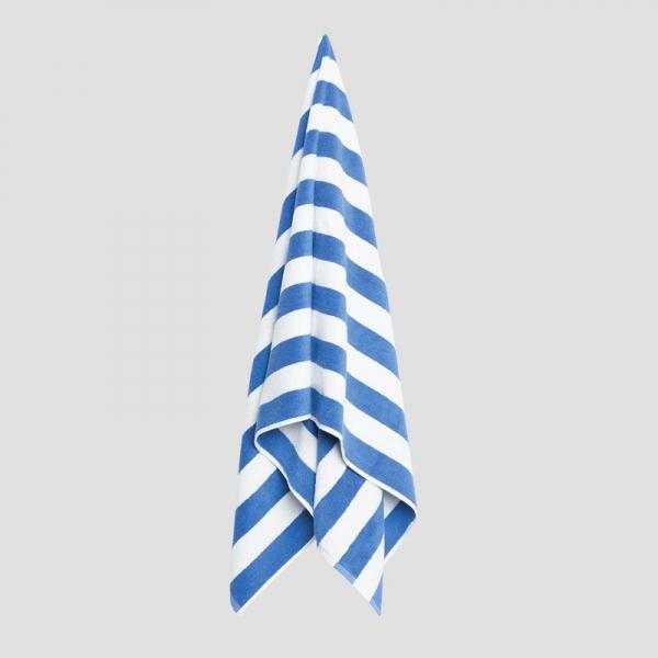 Pool Towel Blue/ White 70x150cm