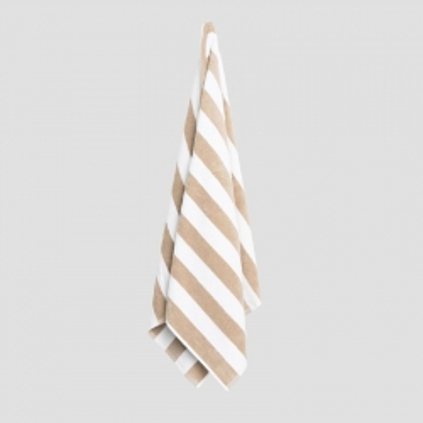 Pool Towel Latte/ White 70x150cm