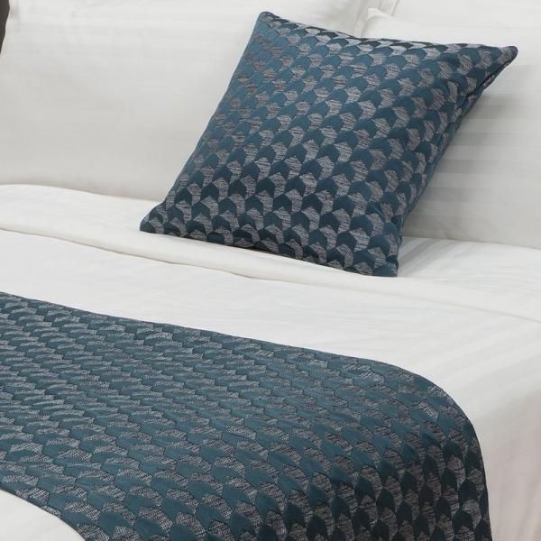 Regency Jacquard Bed Runner - Ocean SB/KSB