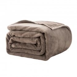 Microfibre Blanket for Queen and King Size Bed Camel