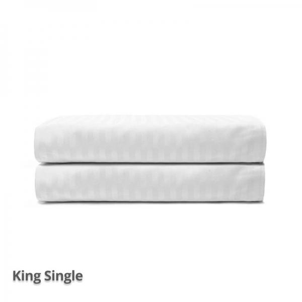 Quilt Cover Satin Stripe White King Single