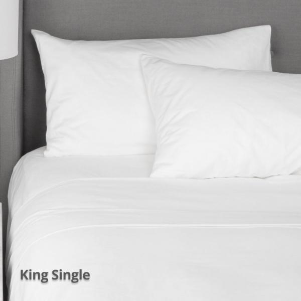 Flat Sheet White King Single