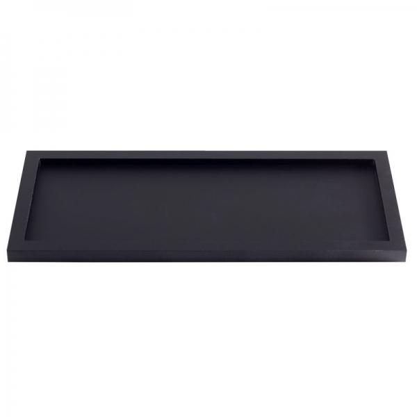 Acrylic Black Rectangular Amenity Tray