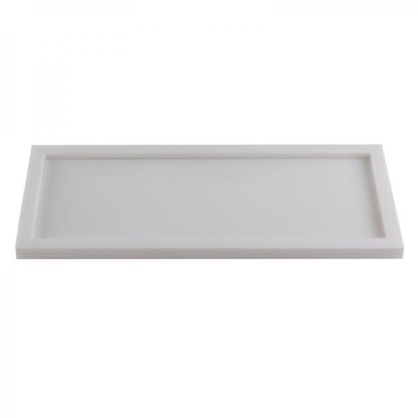 Acrylic White Rectangular Amenity Tray