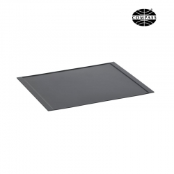 Medium Melamine Tray Flat Sides Black