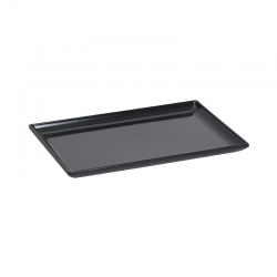 Small Melamine Tray w/Raised Edges Black