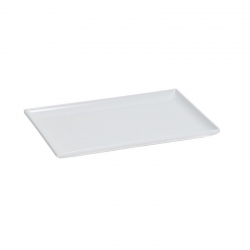 Small Melamine Tray w/Raised Edges White