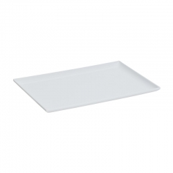 Medium Melamine Tray Raised Sides White