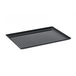 Medium/Large Melamine Tray Raised Sides Black