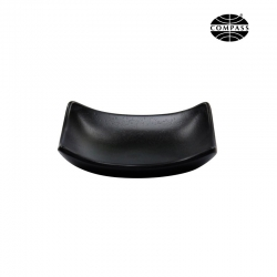 Melamine Soap Dish Curved Black