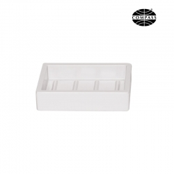 Melamine Soap Dish Rectangular White