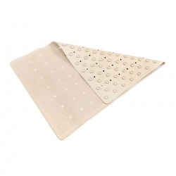 Rubber Bath Mat White Small