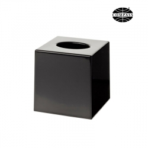 Cube Tissue Box Matt Black