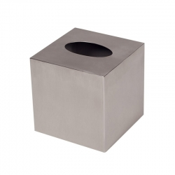 Cube Tissue Box Stainless Steel Brushed