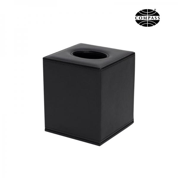 Leatherette Cube Tissue Box Black - Click for more info