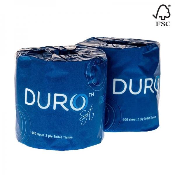 Duro Toilet Tissue 2 Ply 400 Sheets (Carton 48 Rolls)