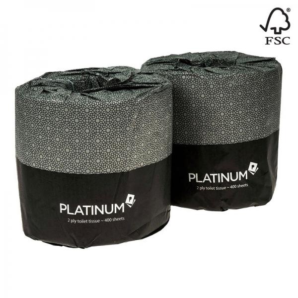 Platinum Toilet Tissue 2 Ply 400 Sheets (Ctn 48)