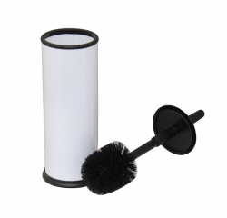 Powder Coated White Toilet Brush