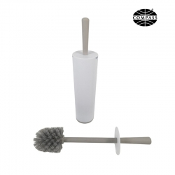White & Grey Plastic Toilet Brush