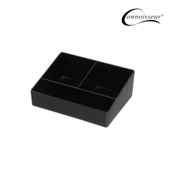 3 Compartment Sachet Holder Black