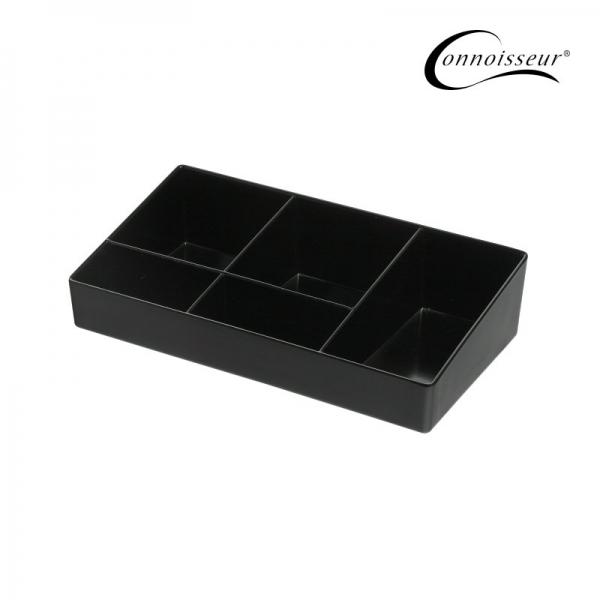 5 Compartment Sachet Holder Black