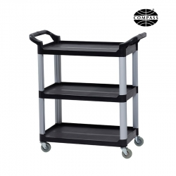 Compass Compact 3 Shelf Utility Cart Black