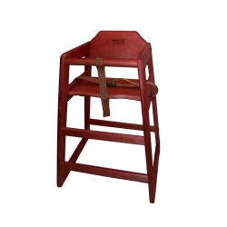 Chef Inox High Chair Mahogany
