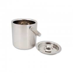 Brushed Stainless Steel Ice Bucket with Lid 1L