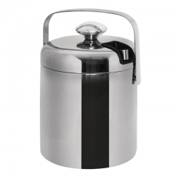 Ice Bucket With Lid 1.23 L And Tongs