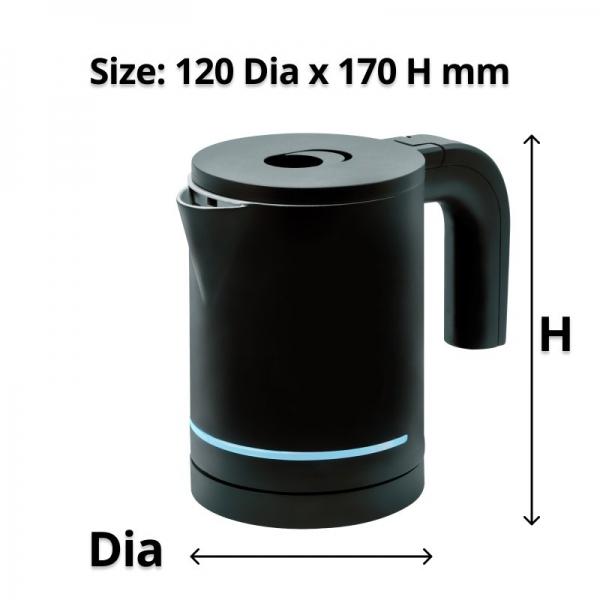 Halo Black Kettle 0.7 L