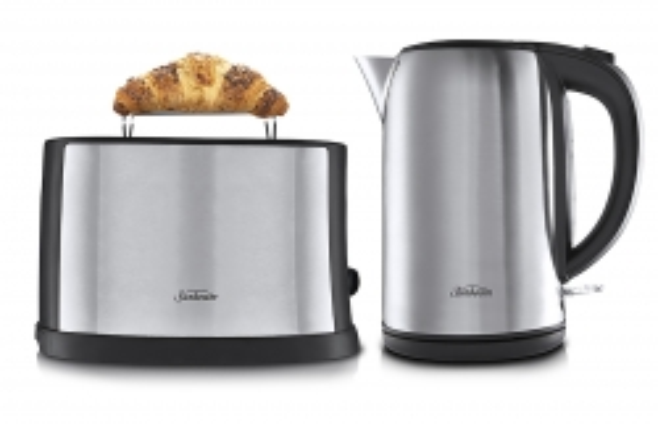 Sunbeam Kettle 1.7 Litre & 2 Slice Toaster Set Stainless Steel