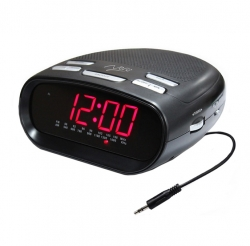 Nero Clock Radio With MP3 Player Input Cable