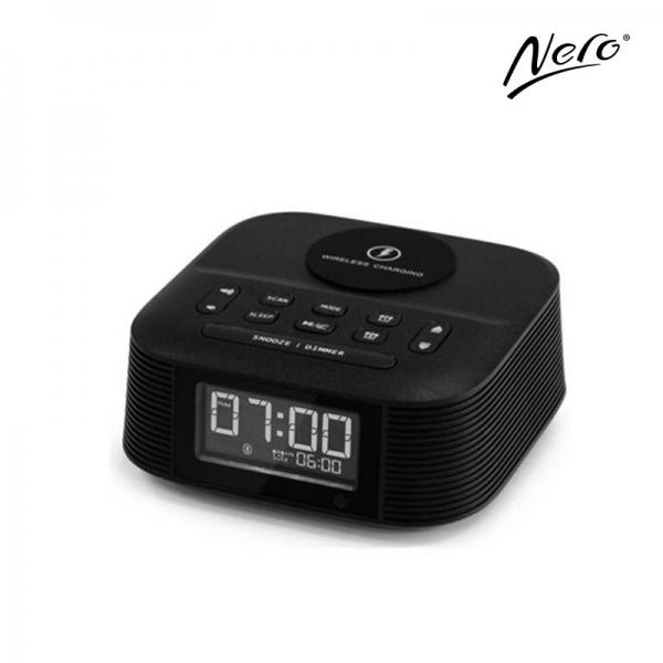 Nero Qi Wireless Clock Radio
