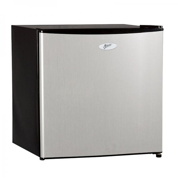 Nero 46L Silver Front Bar Fridge and Freezer